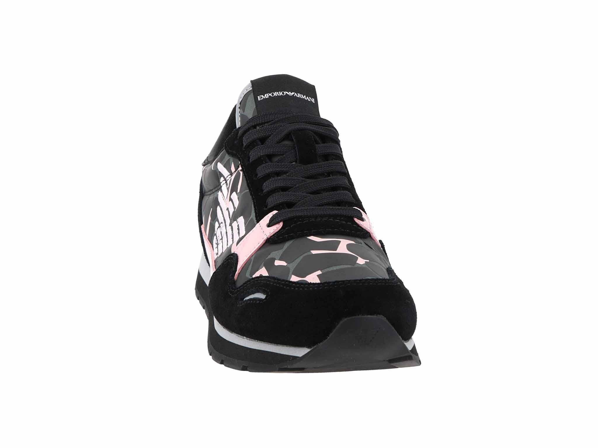 Sneakersy EMPORIO ARMANI - X3X058 XM053 R527 Blk/Nude/Black/Nude
