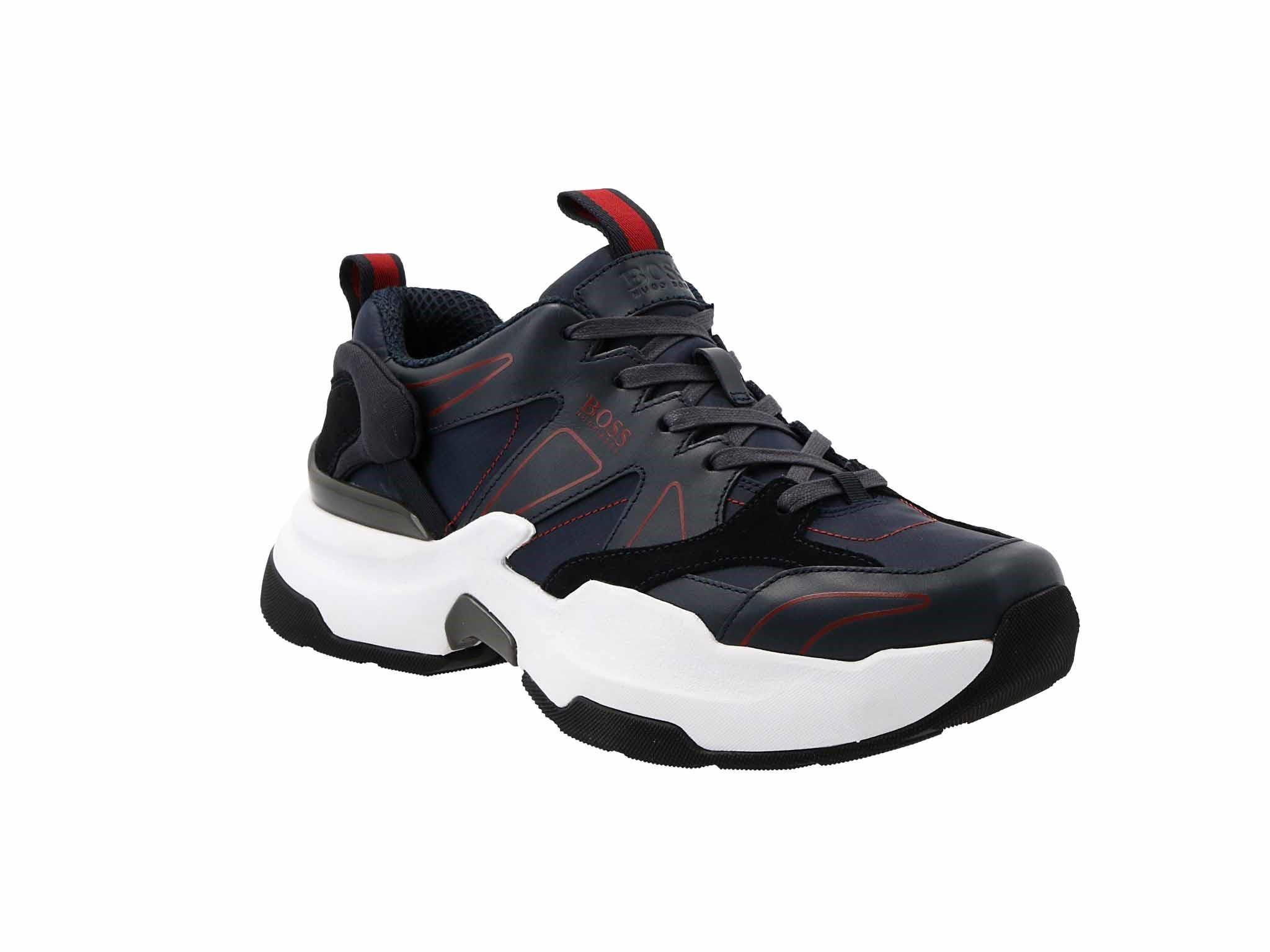 Sneakersy BOSS - Ranger 50422395 10223355 01 Dark Blue 401