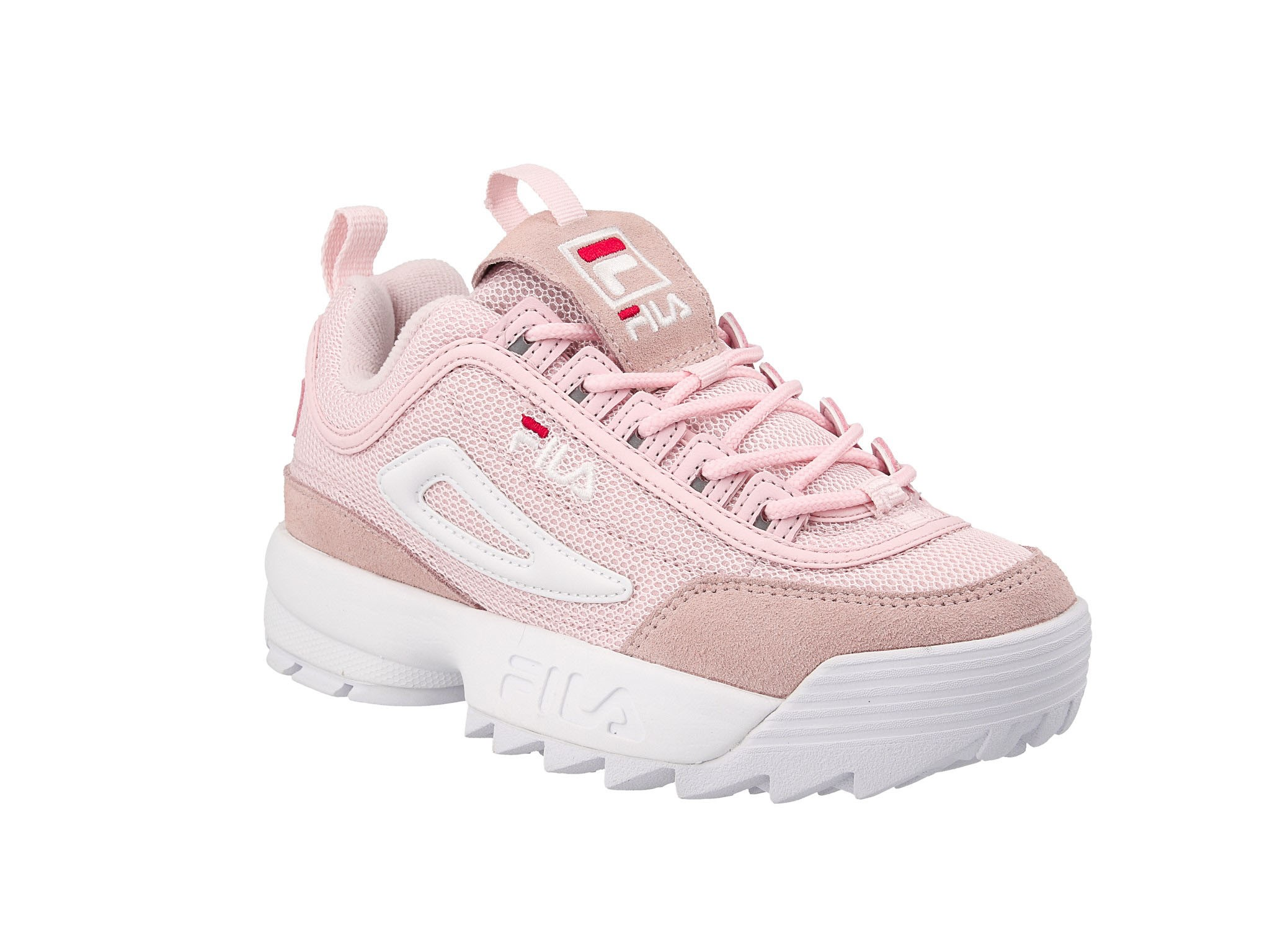Sneakersy FILA Disruptor Mesh Low Wmn 1010606.71D Chalk Pink Buty sportowe damskie różowe w eobuwie.pl