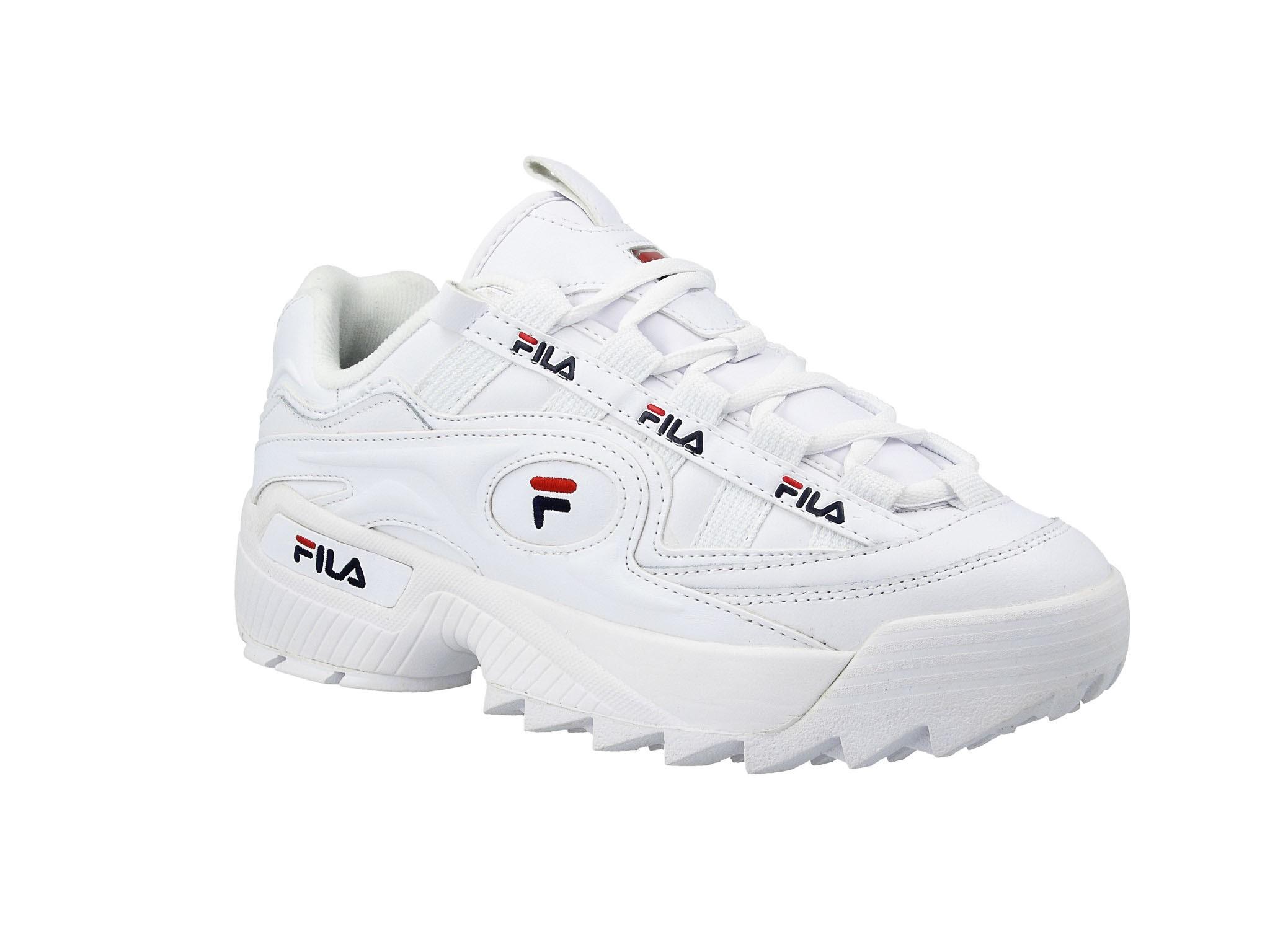 Białe D Formation Wmn 125 White FILA Navy FILA Red