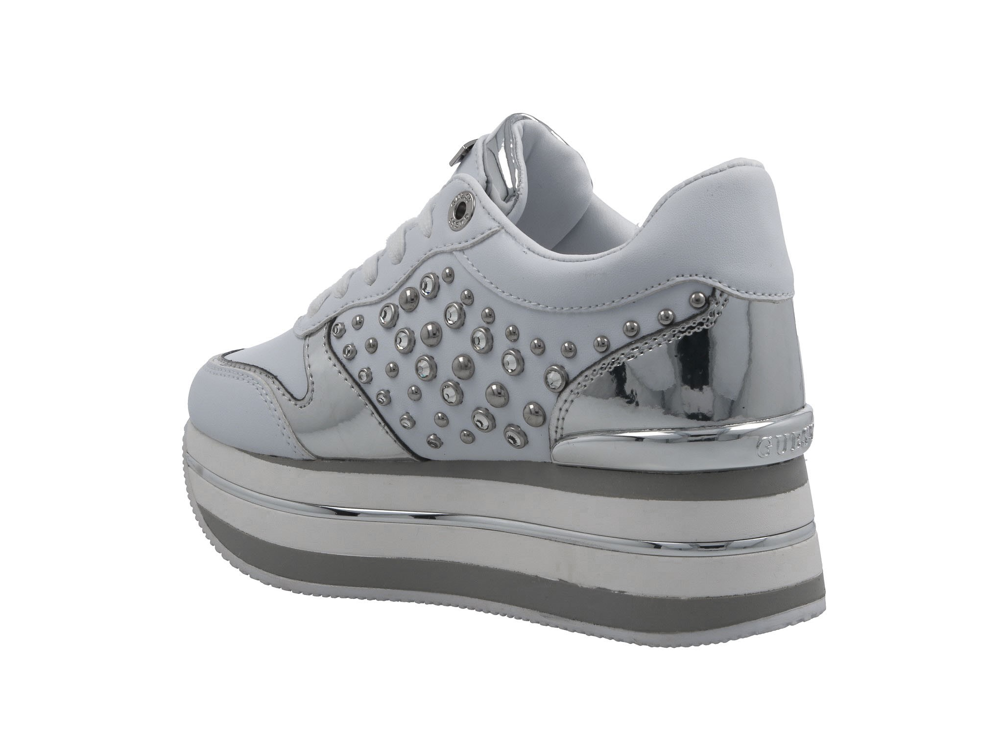 Sneakersy GUESS Humbull FL7HUM ELE12 WHITE Sneakersy