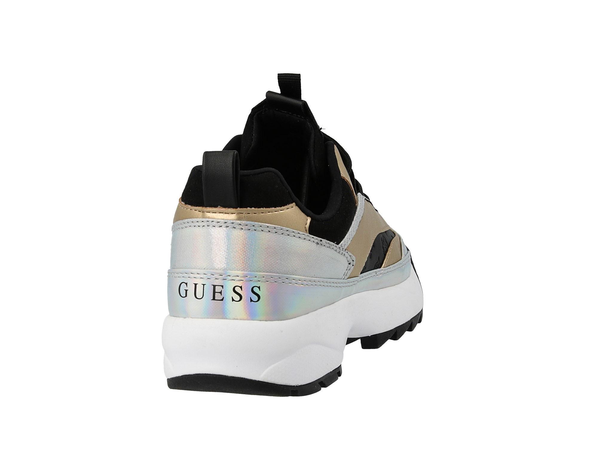 Sneakersy kaysie5 fl5kay lel12 blackgold, Guess