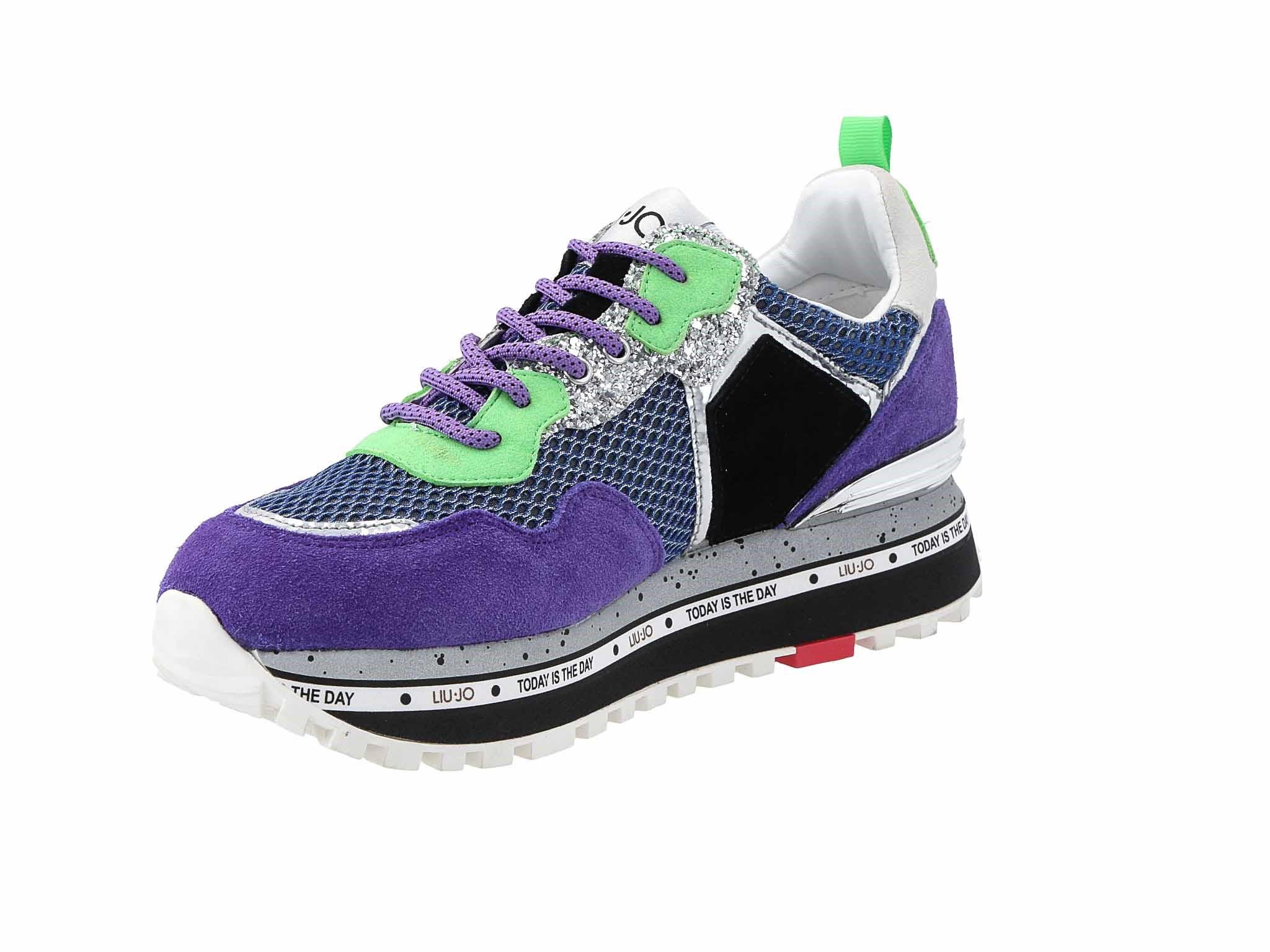 Sneakersy LIU JO Maxi Alexa Running BXX051 PX071 Purple S1202 Półbuty damskie fioletowe w eobuwie.pl