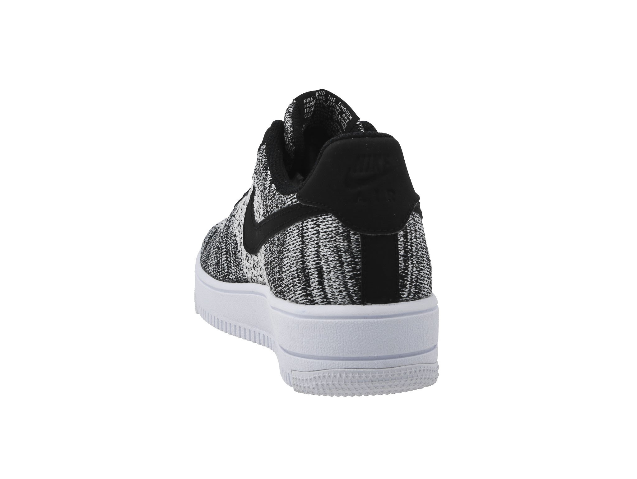 Nike Air Force 1 Flyknit 2.0 (GS) Black Pure Platinum White White | Footshop