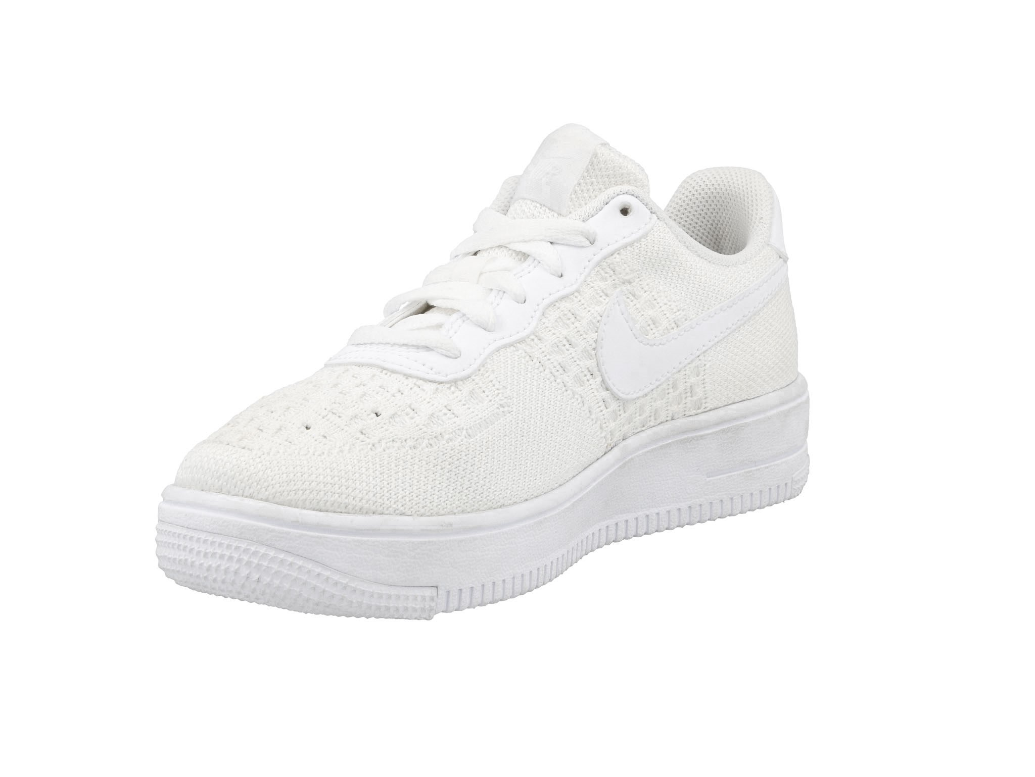 Buty NIKE Air Force 1 Flyknit 2.0 (GS) BV0063 100 WhiteWhiteWhite eobuwie 0000206576767