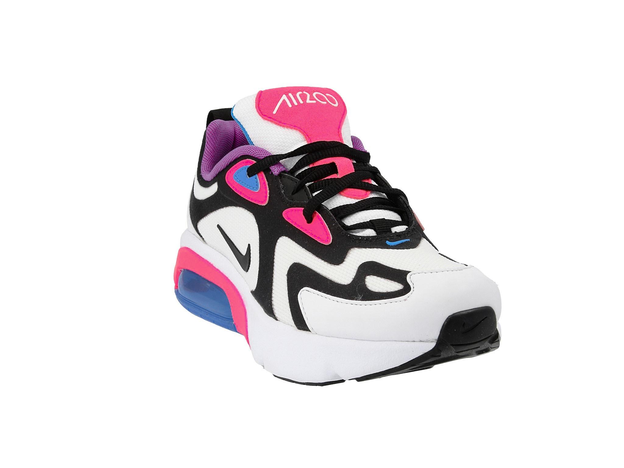 Buty NIKE Air Max 200 (GS) AT5630 100 WhiteBlack Hyper Pink