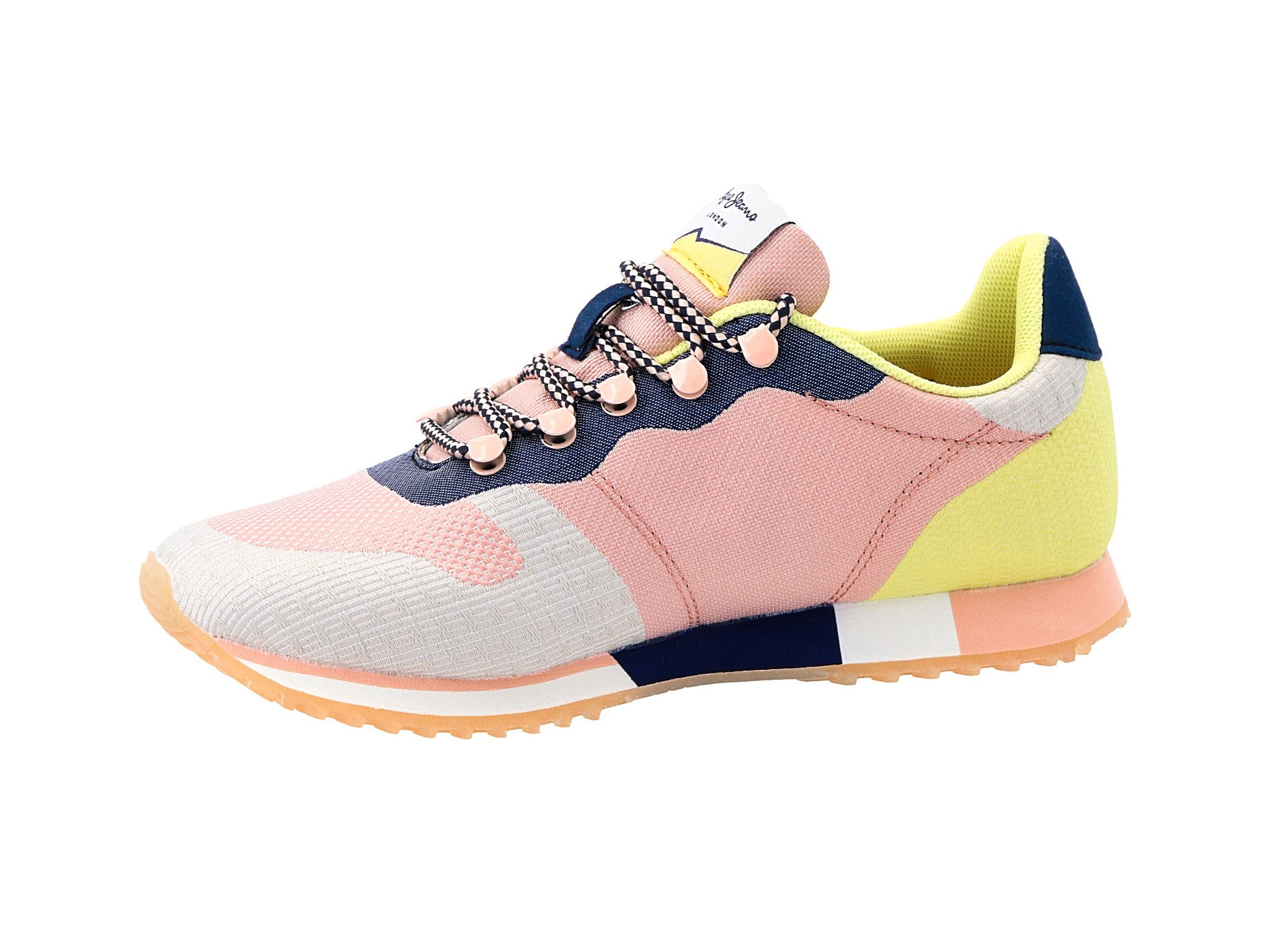 Sneakersy PEPE JEANS Gable Puzzle PLS30809 Pale Pink 300