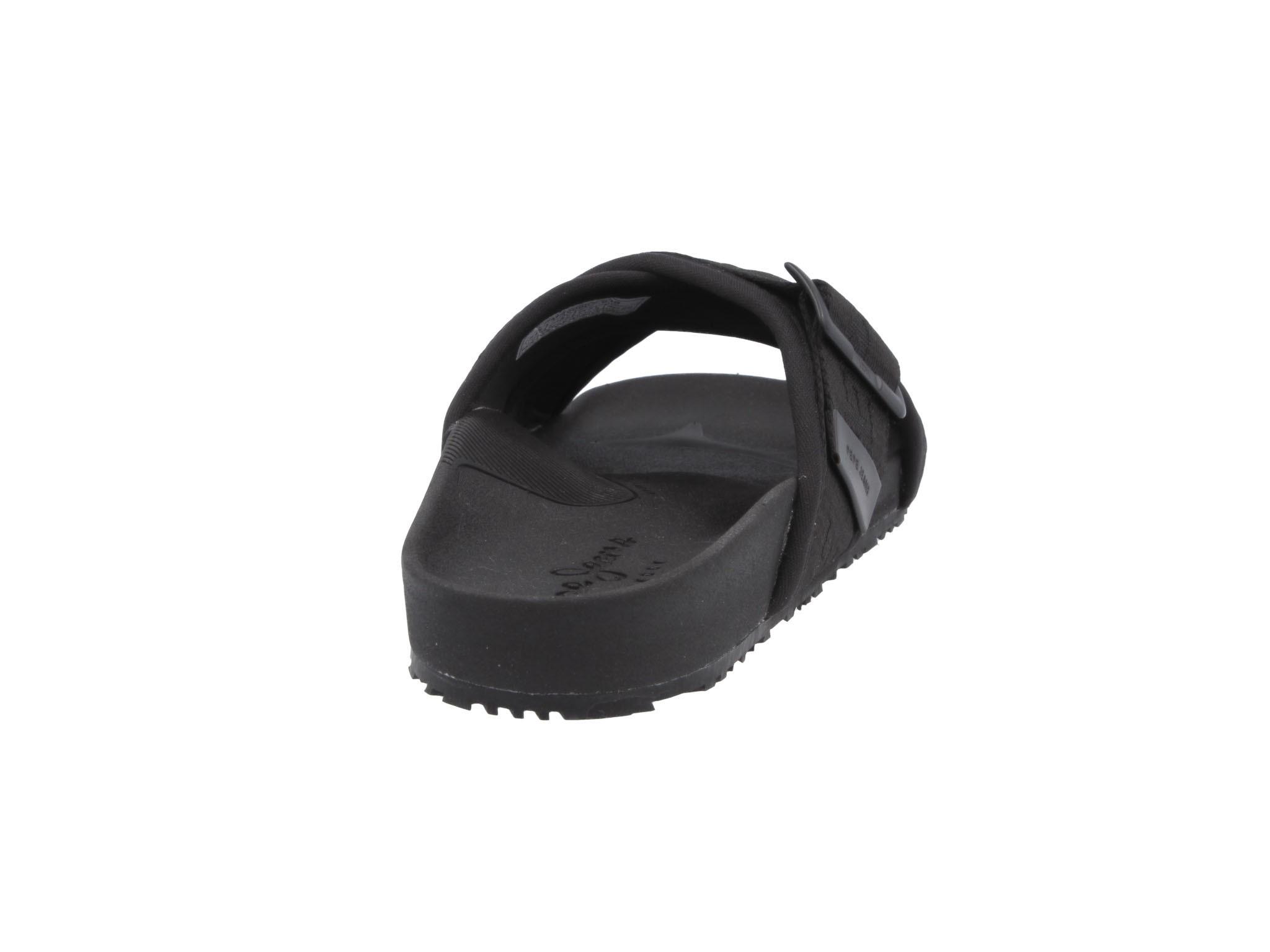 Klapki PEPE JEANS - Ultra Crossed Denim PMS90067  Black 999