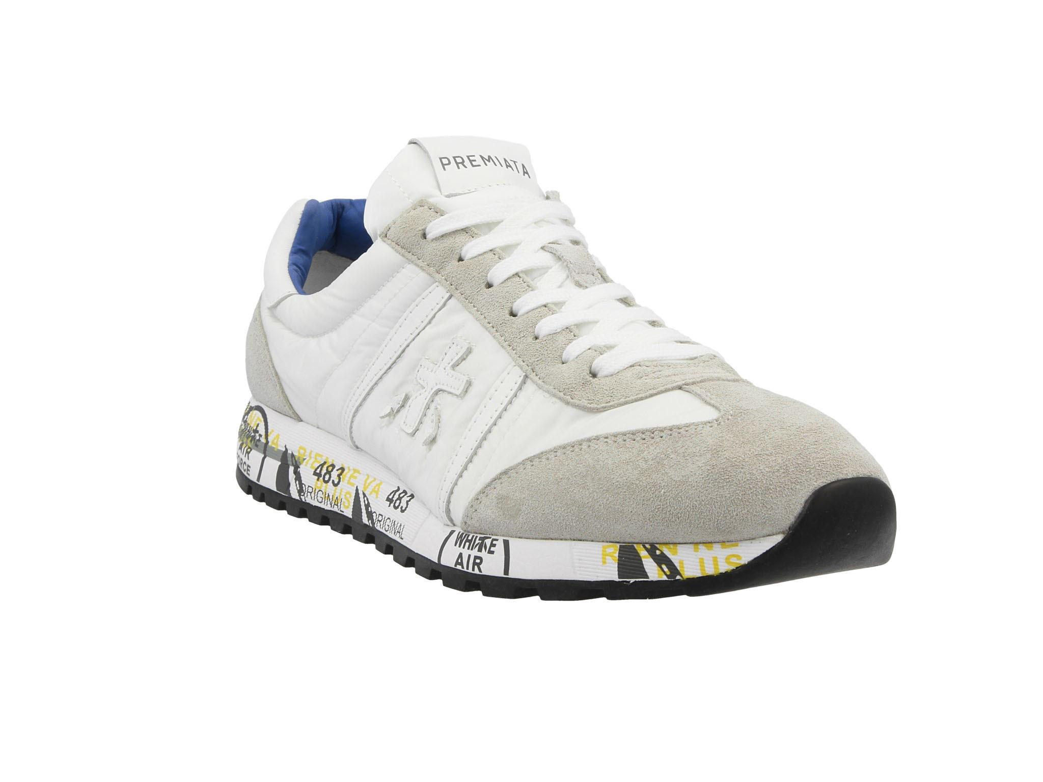 PREMIATA Herren LUCY1794 Grau Stoff Sneakers: