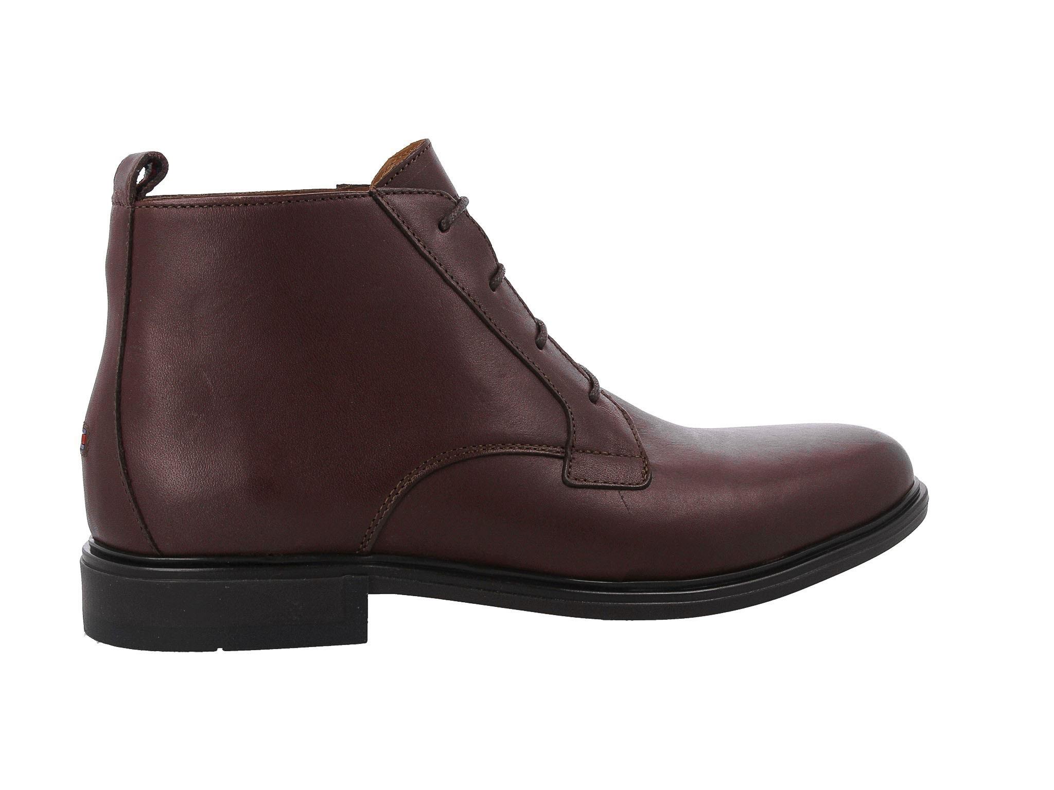 Trzewiki TOMMY HILFIGER - Color Block Heel Leather Boot FM0FM01602 Coffee 211