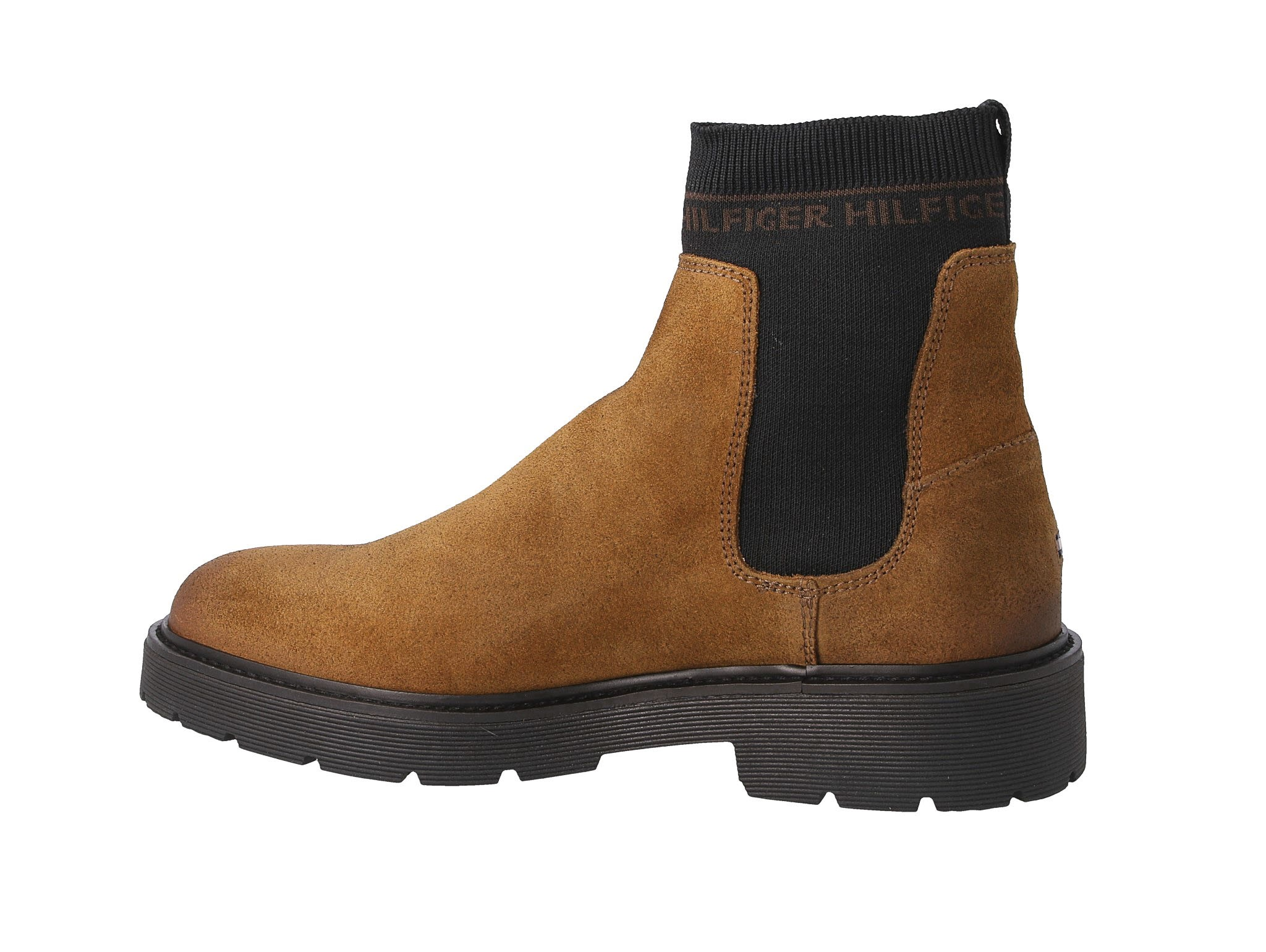 Sztyblety TOMMY HILFIGER - Suede Cleated Chelsea Boot FM0FM02532 Winter Cognac GVI