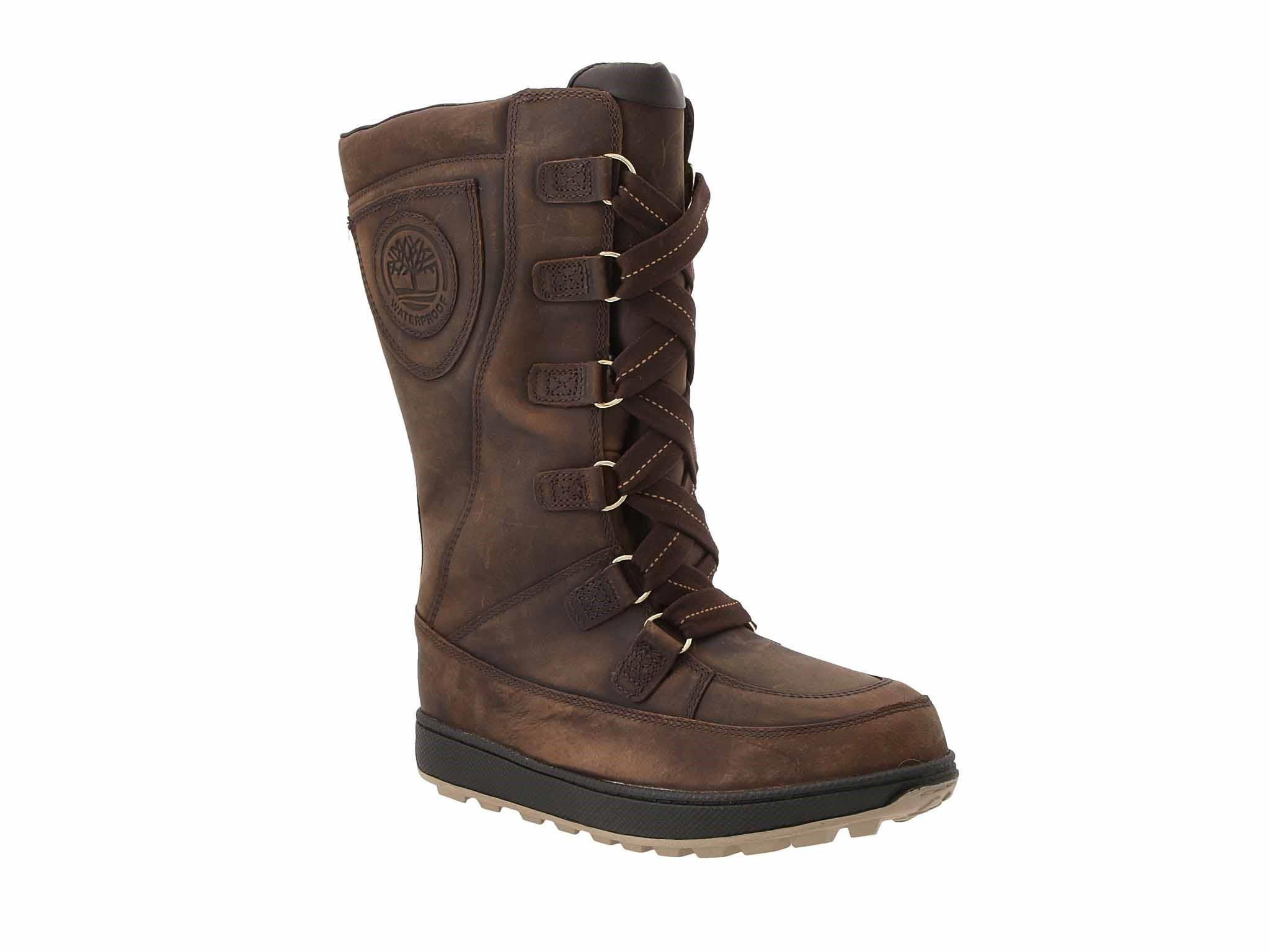 Schneeschuhe TIMBERLAND Mukluk 8 in Waterproof Boot TB076916214 Md Brown Full Grain