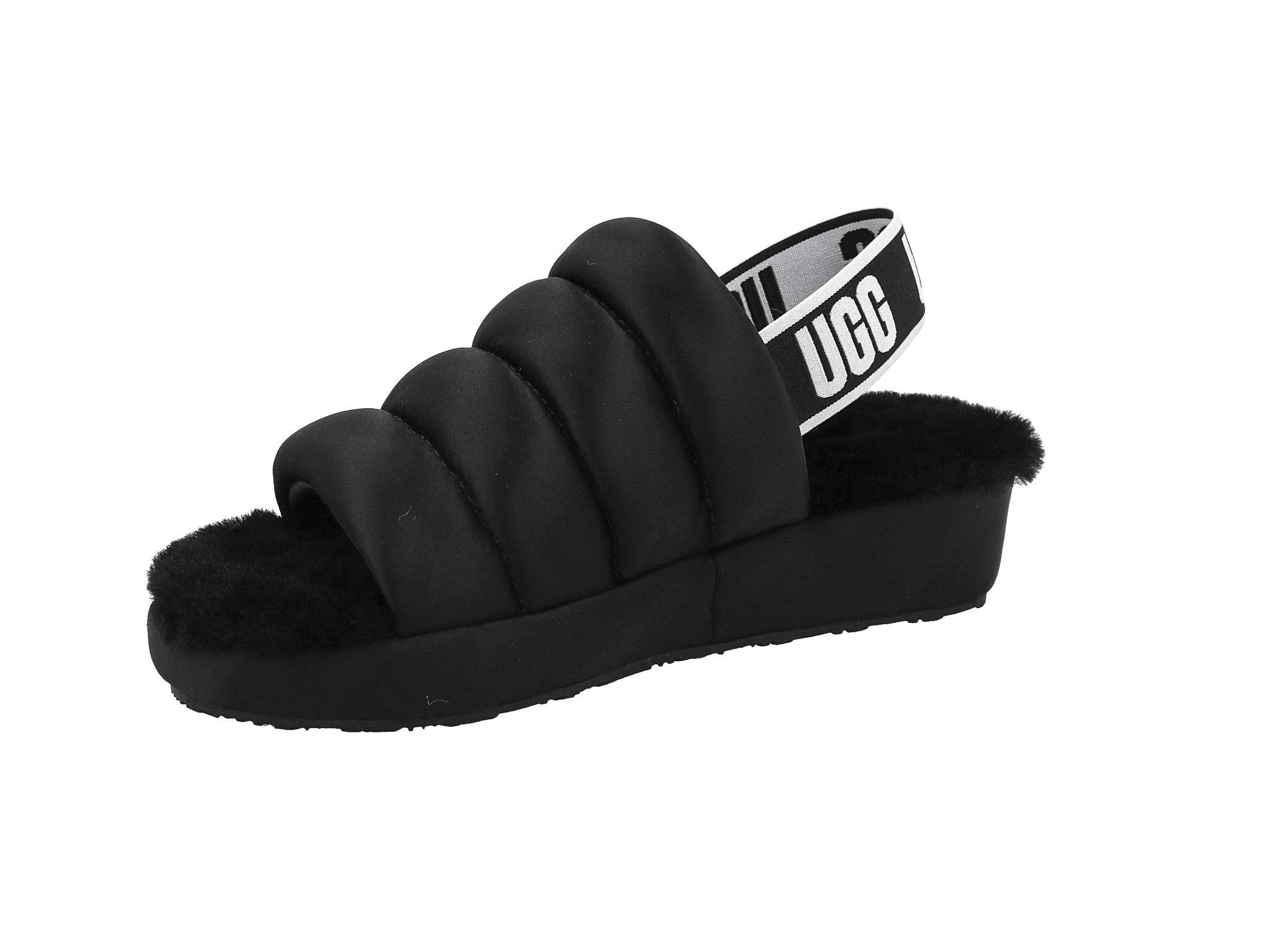 Sandały UGG - W Puff Yeah 1106875 Blk/Black