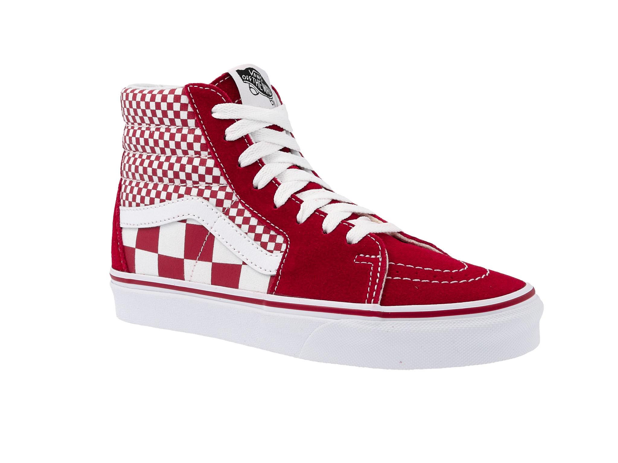 Vans Sneakers Sk8 Hi VN0A38GEVK51 (Mix Checker) CHili Pepper
