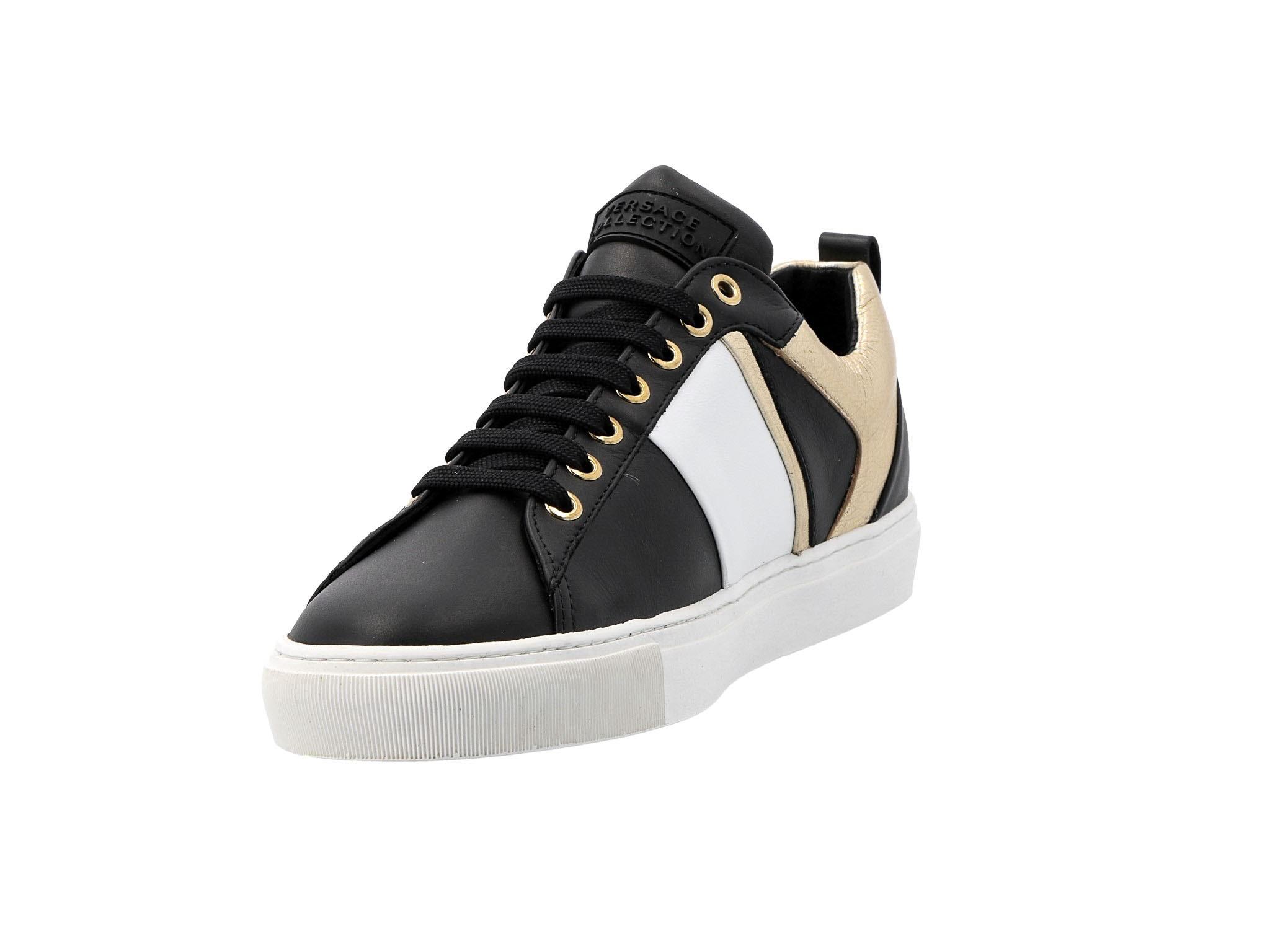 da679e3cb24b4 ... Sneakersy VERSACE COLLECTION - V900714 VM00392 V660H Nero/Bianco/Oro  Chiaro ...